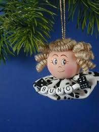 these are the bunco ornaments i made they started out as boring