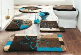 Blue And Brown Bathroom Rugs Unique Bathroom Rugs Chene Interiors