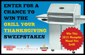 wood grill sweepstakes barbecuebible