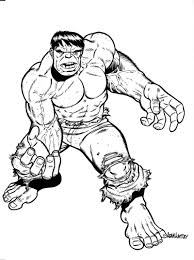 free printable hulk coloring pages kids