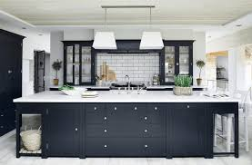 White And Blue Kitchen Cabinets 31 Black Kitchen Ideas For The Bold Modern Home Freshome Com