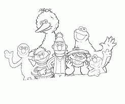 sesame street color pages coloring