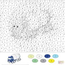 motorcycle color by number free printable coloring pages