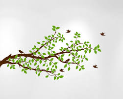 tree branches wall decal birds vinyl sticker nursery leaves 1296 tree branch wall decal with birds jpg