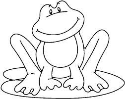 frog lily pad clip art black and white sketch coloring page