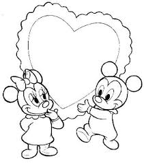 baby mickey minnie heart disney coloring pages baby coloring