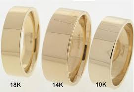mens wedding bands that don t scratch what are the differences between 10k 14k and 18k yellow gold