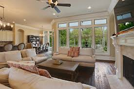 Traditional Family Rooms by Hearth Room Seating And Tv Fireplace Troyer Builders Game