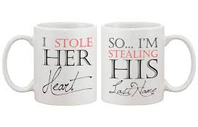 i stole her heart so i u0027m stealing his last name couple mugs