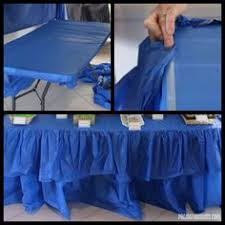 Cloth Table Skirts by Diy Your Own Cute Table And Draping A Table Cloth In An Entryway