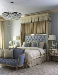 blue romantic bedroom colors schemes for couple with elegant