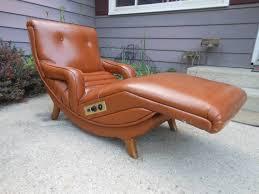vintage danish modern contour lounge recliner chair mid century