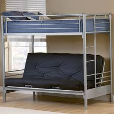 Bunk Beds  White Futon Bunk Bed Loft Bed Concept With Study Table - Full size bunk bed with futon on bottom