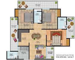 antriksh golf city noida antriksh golf city noida floor plan 3bhk servant 1665 sq ft in antriksh golf city noida 1665 sq ft