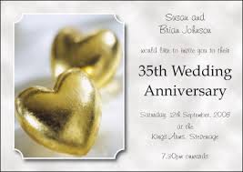 35 wedding anniversary 35th wedding anniversary invitation wedding anniversary cards