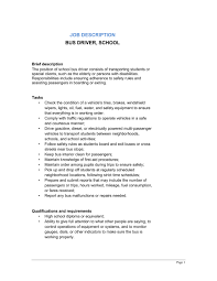bus driver job description template u0026 sample form