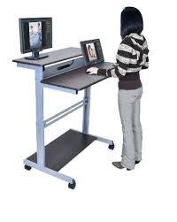 Wire Computer Desk Movable Computer Desk Fancy Mobile Computer Desk Mobile Stand Up