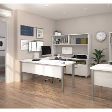 bestar pro linea u desk with hutch free shipping today