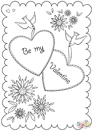 be my valentine card coloring page free printable coloring pages