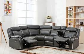 Corner Sectional Sofa Large Classic And Traditional Two Tone Bonded Leather