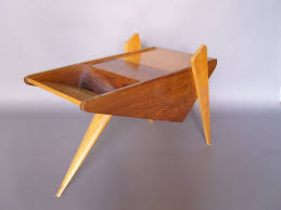 unusual french 1950s rosewood and sycamore side table for sale at unusual french 1950s rosewood and sycamore side table 3