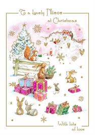 cym cards niece christmas card from the woodland range published