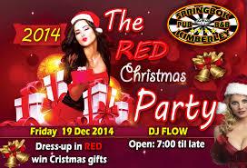 red christmas party springbokpub