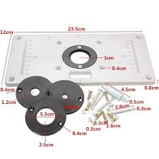 Woodworking Bench Sale 235mm X 120mm X 8mm Aluminum Router Table Insert Plate For