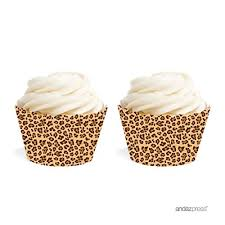 leopard print party supplies golden leopard print cupcake wrappers for a safari jungle