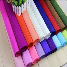 wholesale wrapping paper rolls 250 50cm colored crepe paper roll for diy flowers decoration gift