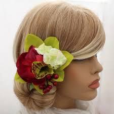 hair corsage artificial silk flower wedding hair accessories