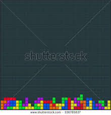 old video game square template colored stock vector 383266435