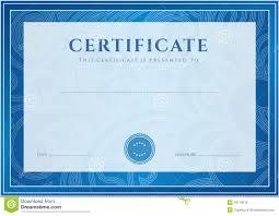 certificate diploma template award pattern royalty free stock