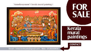 Mural Painting Designs by Ananthasayanam Kerala Mural Paintings Indoor Art Gallery
