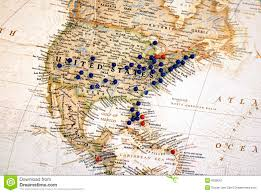 map tacks united states with map tacks stock image image 6038051