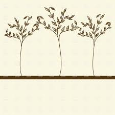 small simple trees thin plant royalty free vector clip image