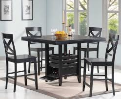 Black Square Dining Table Wood Black Dining Table Set Sorrentos Bistro Home