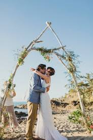 Wedding Arches Beach Diy Driftwood Arbour Decorated With Native Australian Flowers