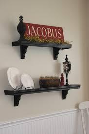 decorations black wall mounted modern shelf featuring