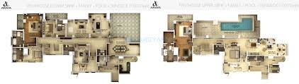 Penthouse Floor Plan by 5 Bhk 10019 Sq Ft Penthouse For Sale In Pioneer Park Araya At Rs