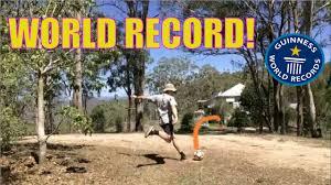 world record football binshot 40m 131 feet jed hockin youtube