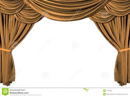 Gold Curtain Gold Theater Stage Draped With Curtains Royalty Free Stock Images