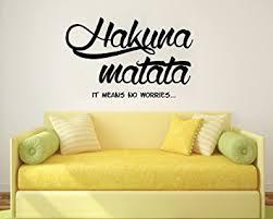 sprüche schlafzimmer wandtattoo zitat hakuna matata sprüche wandaufkleber spruch vinyl