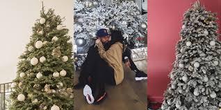 kylie jenner kendall jenner and kim kardashian u0027s christmas trees