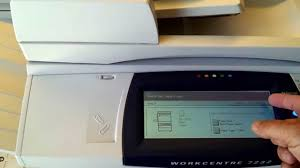 xerox color copier workcentre 7232 youtube