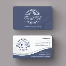 modern colorful business card design for mile high garage door business card design by indian ashok for mile high garage door sales repair needs a business