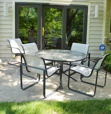 Brown Jordan Patio Chairs Brown Jordan Quantum Collection Patiotable Four Chairs Spring