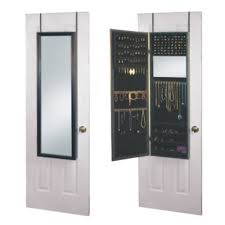 Jewlery Armoires Mirror Jewelry Armoire Over The Door White Same Day Shipping