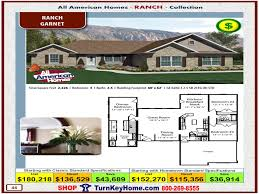 Custom Home Plans And Pricing Garnet All American Modular Home Ranch Collection Plan Price