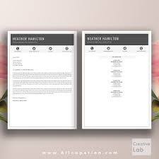 Cool Resume Templates For Mac Creative Resume Template Cover Letter Word Modern Simple